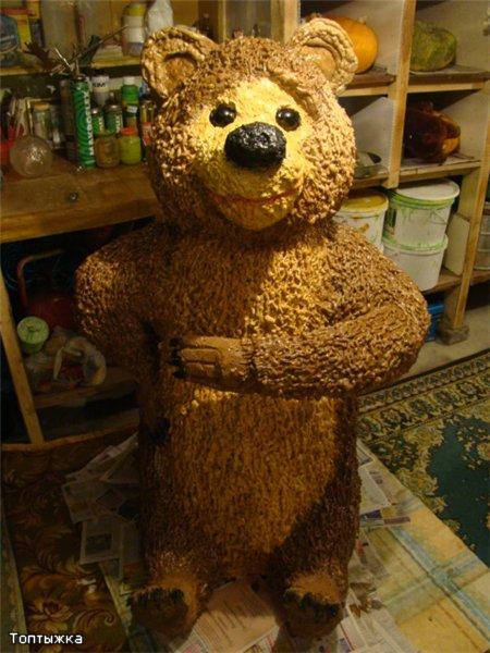 Как сделать медведя из пены своими руками